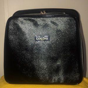 Lancome Black LARGE Train Case Makeup Cosmetic Bag